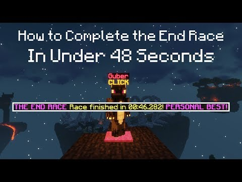 How to Complete the End Race In Under 48 Seconds   Hypixel Skyblock