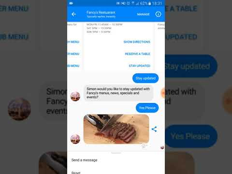 A great example of a good restaurant chatbot