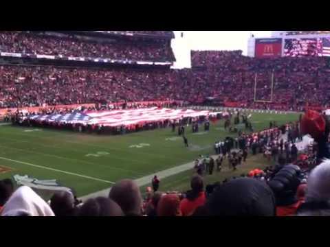 Ravens Broncos Game - star Spangled Banner