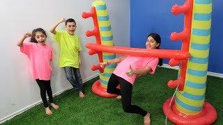Heidi Zidane and Hadil Limbo Challenge 3 ! family game
