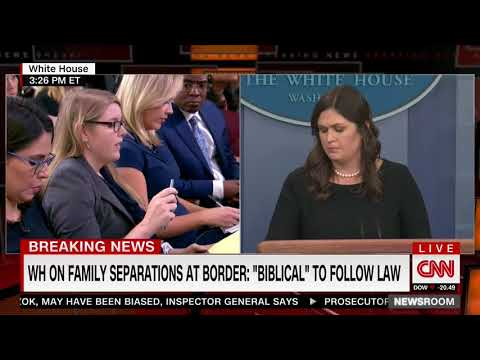 SARAH HUCKABEE SANDERS - WHITE HOUSE PRESS BRIEFING - FULL VIDEO (THURSDAY, JUNE 14, 2018)