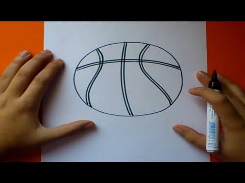 Como Dibujar Un Balon De Baloncesto How To Draw A Basketball Youtube