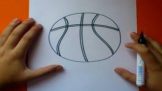 Como dibujar un balon de baloncesto   How to draw a basketball