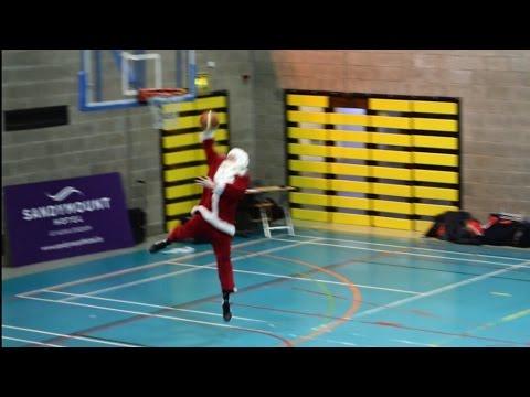 Santa At UCD Basketball Match 2014