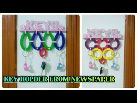 DIY KEY HOLDER/WASTE OF NEWSPAPER#03