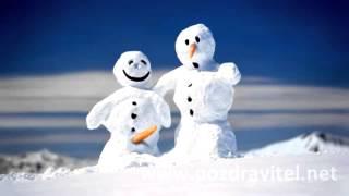 Смешной прикол со снеговиками! Прикольная видео открытка поздравление с наступлением зимы