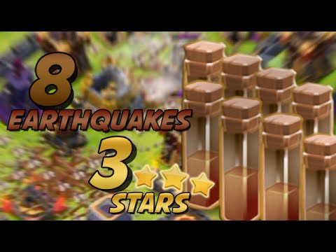 Clash Of Clans | 8 EARTHQUAKE + QUEEN WALK = 3 STARS AT TH11