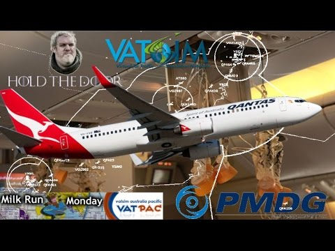 PMDG 737 on Vatsim - Milk Run EMERGENCY DESCENT!