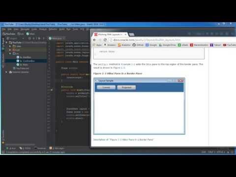 JavaFX Java GUI Tutorial - 8 - Embedding Layouts