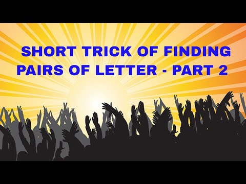 SHORT TRICKS OF REASONING FOR FINDING PAIRS OF LETTERS IN A WORD-IBPS CLK & P.O 2016 EXAMS- PART 2