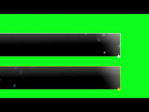 Information Bar - Green Screen Animation