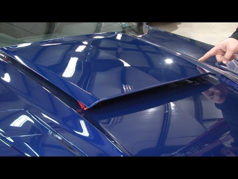 2015-2017 Mustang Roush Deep Impact Blue Hood Scoop