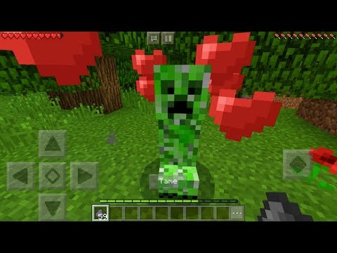 How To Make a Friendly Creeper in Minecraft Pocket Edition Elemental Mobs Addon