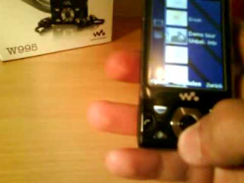 Sony Ericsson W995 Menüführung