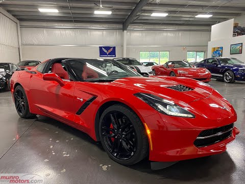 2017 Chevrolet Corvette 1LT Torch Red with just 9k kms! Munro Motors from YouTube · Duration:  7 minutes 21 seconds