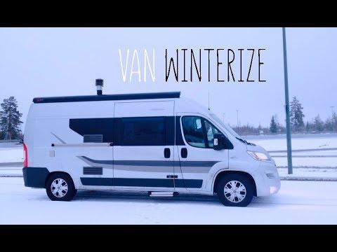 Winter in a van - Vanlife Finland
