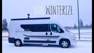 Winter in a van - Vanlife Finland