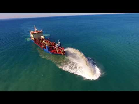 Sand Dredge Off the Gold Coast By Drone