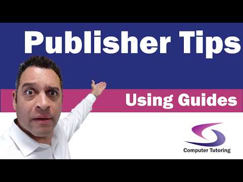 How to use guides in Publisher 2016?
