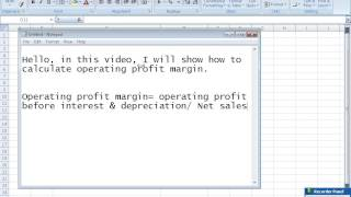 Calculate operating profit margin
