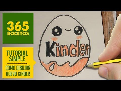 Como Dibujar Huevo Kinder Kawaii Paso A Paso Dibujos Kawaii