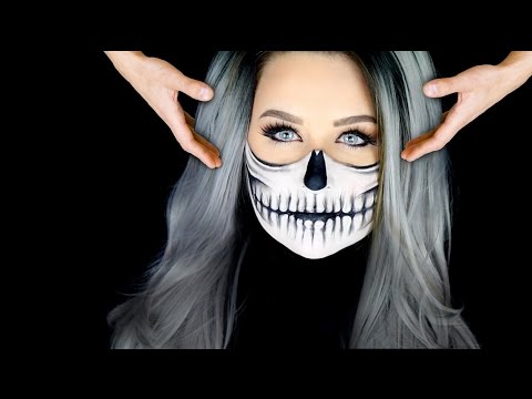 Halloween Make Up Skelet.5 Step Skeleton Face Paint Tutorial How To Do Skeleton