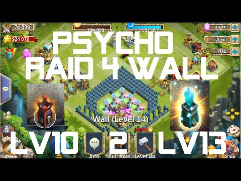 Castle Clash Psycho Raid For New Wall Upgrade To Lvl 13