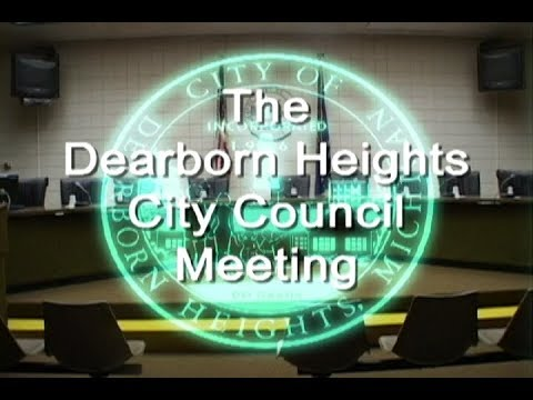 Dearborn Heights City Council Meeting 01-09-19