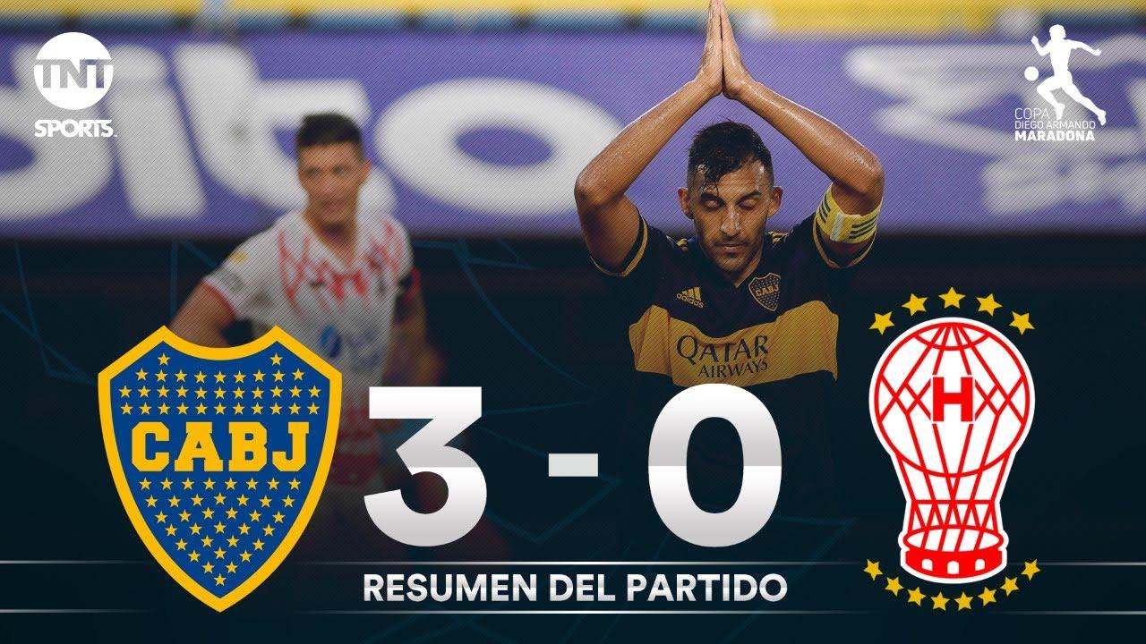 Resumen de Boca Juniors vs Huracán (3-0)   Fecha 3 Grupo A - Fase Campeón Copa Maradona