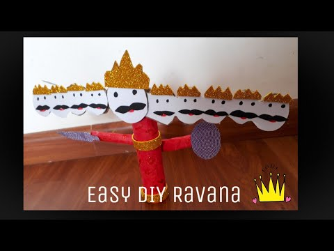 How to make an Easy DIY Ravana from Cardboard | Dusshera Crafts| Quicky Crafts