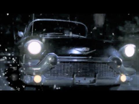Movie driverless black car columbian women