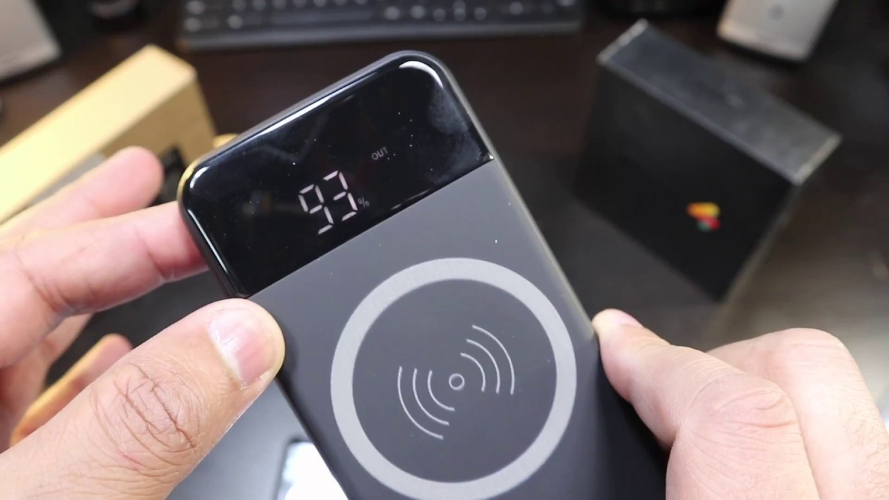Wireless Chargers with digital display 10000mAh Fast Charging Power Bank
