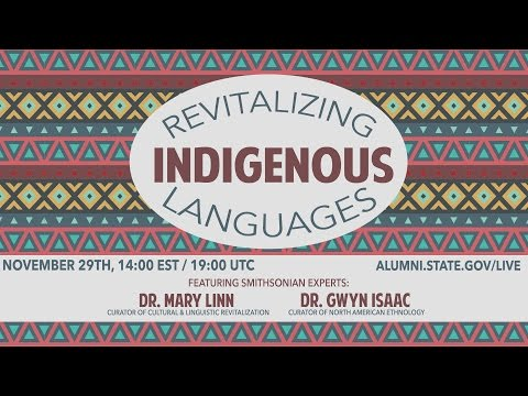 Revitalizing Indigenous Languages