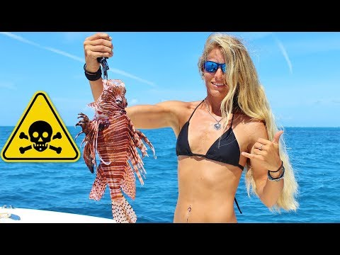DEADLY LIONFISH! Florida Offshore Saltwater Fishing for Lethal & Venomous Killer Reef Fish