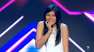 "VERY SHY GIRL Marlisa Gets STANDING OVATION! - ""Never Be The Same"" - X Factor Australia"