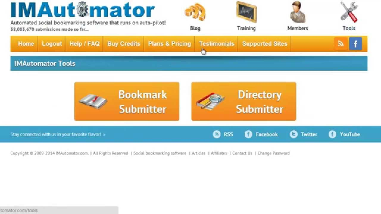 IMAutomator | Automated Social Bookmarking Software