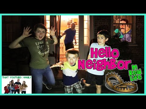 HELLO NEiGHBOR In Real Life At NiGHT With TRAPS / That YouTub3 Family