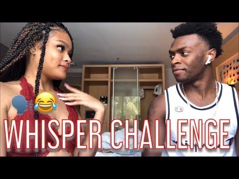 WHISPER CHALLENGE WITH MY BOYFRIEND!!! (HILARIOUS)