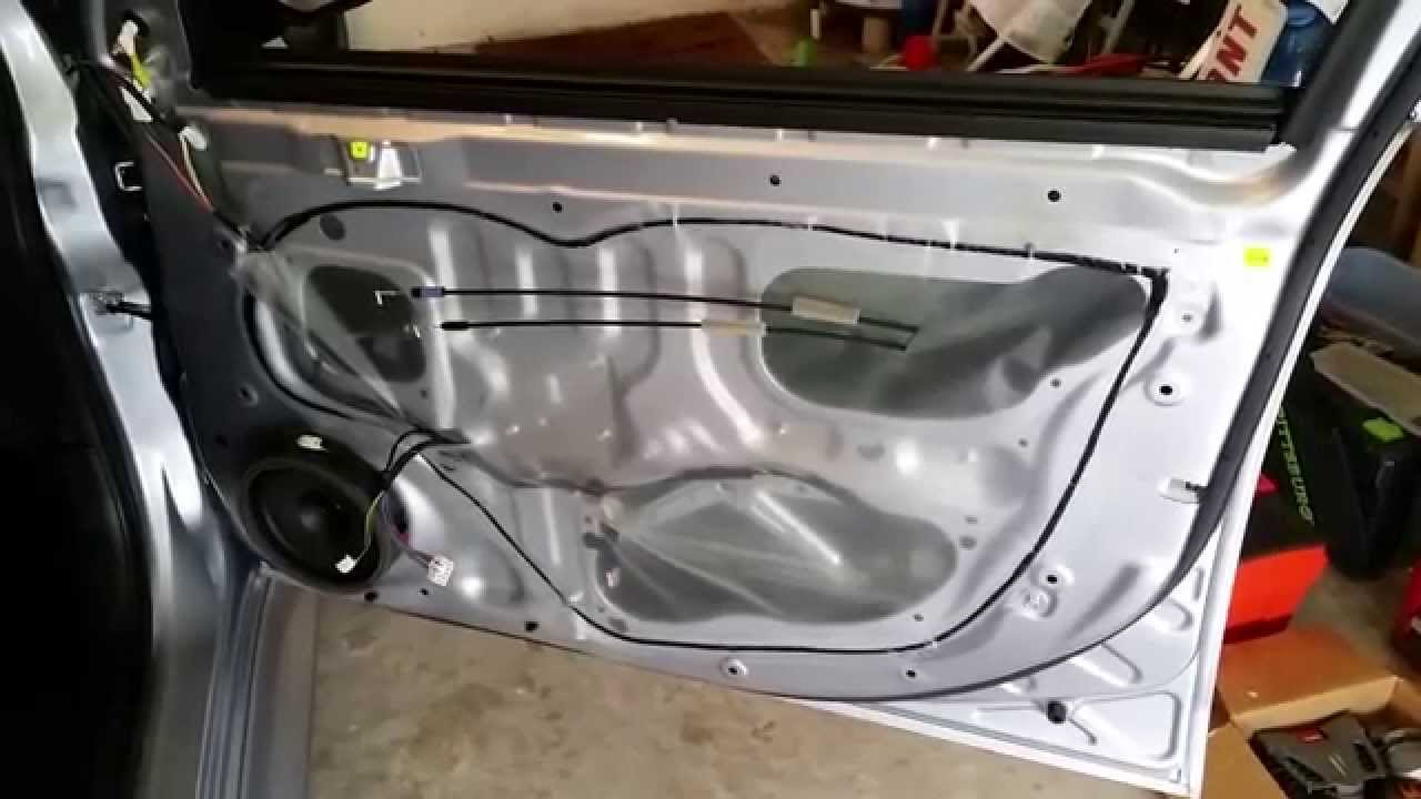 2015 mitsubishi lancer metal door frame plastic interior door panel removed to upgrade. Black Bedroom Furniture Sets. Home Design Ideas