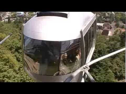Portland Cable Car near OHSU with Mt Hood in the background