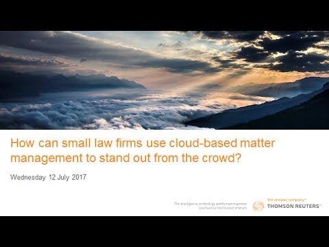 Using cloud based matter management to stand out from the crowd