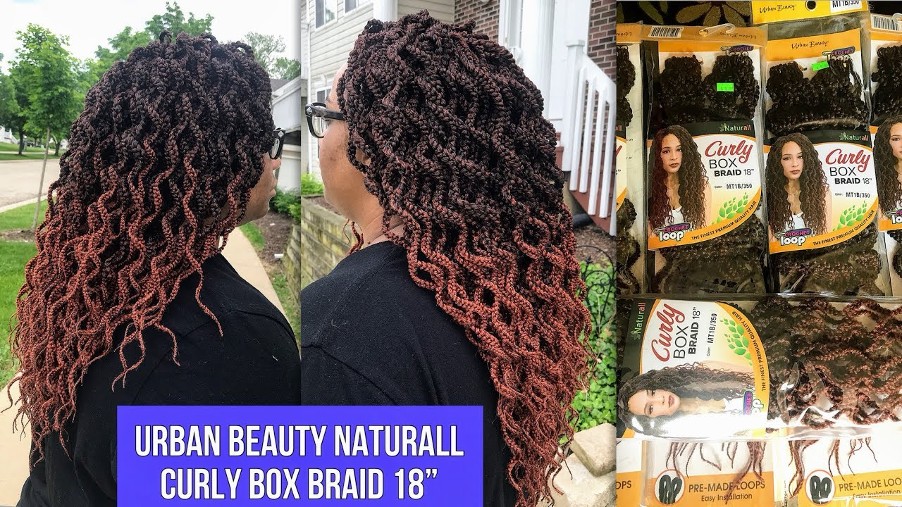 URBAN BEAUTY NATURALL CURLY BOX BRAID 18