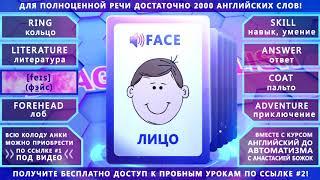 Анки 028 - учить английские слова: кольцо, литература, лицо, лоб, навык, ответ, пальто, приключение