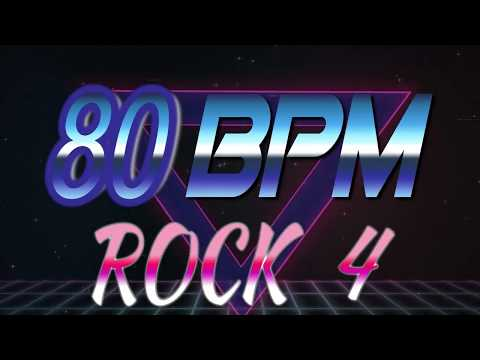 80 BPM - Rock 4 - 4/4 Drum Track - Metronome - Drum Beat