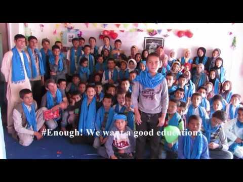 #Enough! Afghan Street Kids want a good education!
