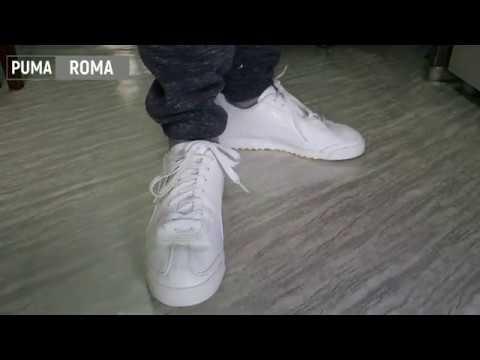 on feet PUMA ROMA - YouTube