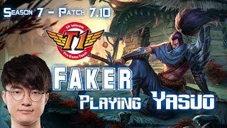 SKT T1 Faker YASUO vs LEBLANC Mid - Patch 7.10 KR Ranked