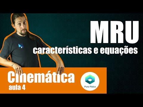 Física - Cinemática: MRU características e equações