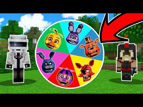 ¡LA RULETA DE LOS ANIMATRONICOS FIVE NIGHTS AT FREDDY'S (FNAF) 🎯😱! - PRUEBA TU SUERTE EN MINECRAFT