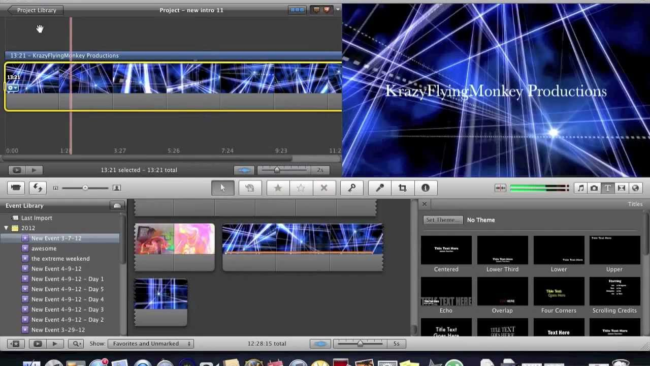 How To Make A Cool Intro With Imovie Or Windows Movie